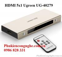 Bộ gộp HDMI 5 vào 1 ra hỗ trợ 4k x 2k chính hãng Ugreen UG-40279