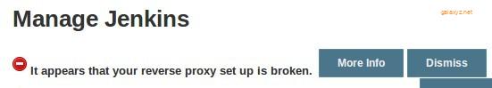 Lỗi Jenkins:  Cài đặt  Reverse Proxy  bị hỏng