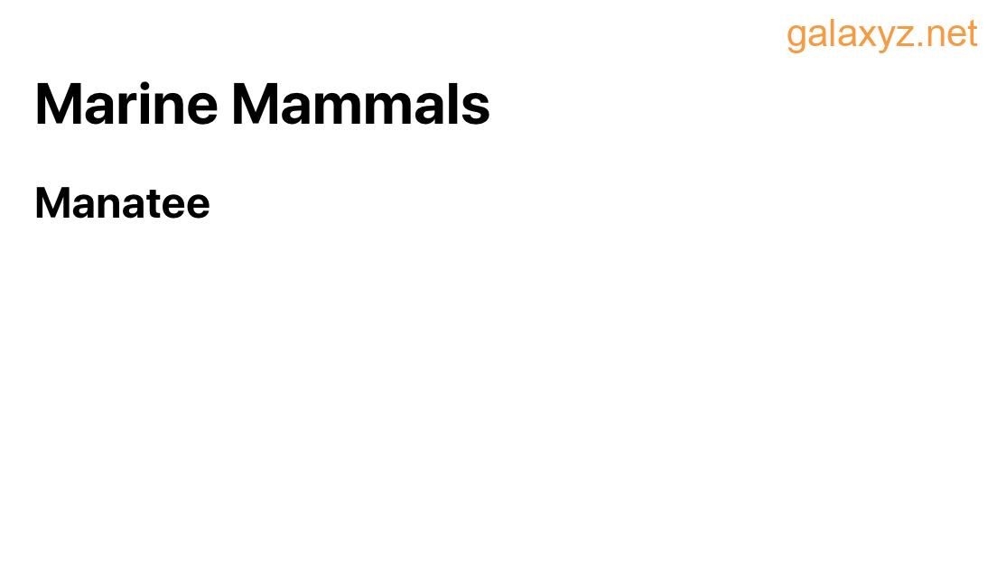 Động vật có vú biển