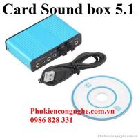 Card Sound box 5.1 điều khiển âm thanh cổng USB