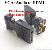 Đầu chuyển đổi VGA to HDMI có hỗ trợ âm thanh
